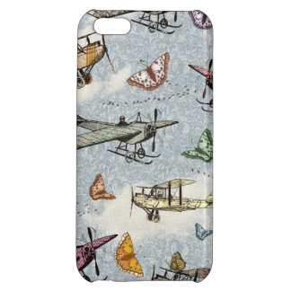 Vintage Sky - Planes and Butterflies iPhone 5C Cases