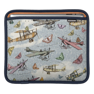 Vintage Sky - Planes and Butterflies Sleeves For iPads