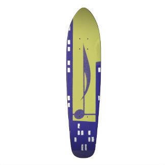 Vintage Skysraper Music Note Purple Chartruese Skateboard