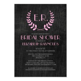 Vintage Slate Bridal Shower Invitations