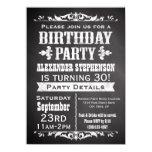 "Vintage Slate Chalkboard Birthday Party Invitation 4.5"" X 6.25"" Invitation Card"