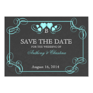 Vintage Slate Save the Date Card