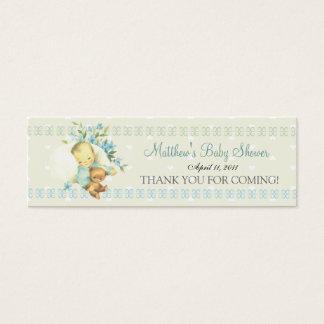 Vintage Sleeping Baby Shower Custom Favor Tag