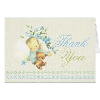 Vintage Sleeping Baby Shower Custom Thank You Card