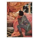 Vintage Sleeping Beauty by Jessie Willcox Smith Greeting Card