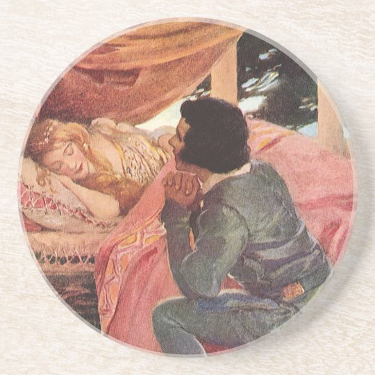 Vintage Sleeping Beauty by Jessie Willcox Smith Drink Coaster