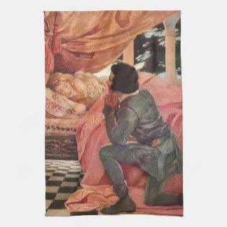 Vintage Sleeping Beauty by Jessie Willcox Smith Hand Towel