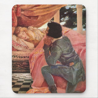 Vintage Sleeping Beauty by Jessie Willcox Smith Mouse Pad