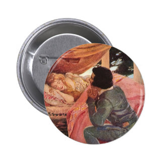 Vintage Sleeping Beauty by Jessie Willcox Smith Pinback Button