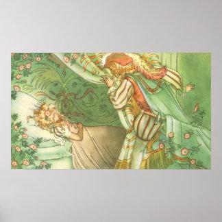 Vintage Sleeping Beauty Princess Prince Charming Poster