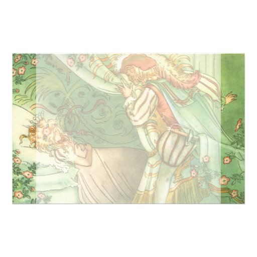 Vintage Sleeping Beauty Princess, Prince Charming Personalized Stationery