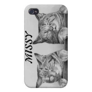 Vintage Sleepy Cats iPhone 4 Case