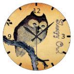 Vintage Sleepy Owl Clock
