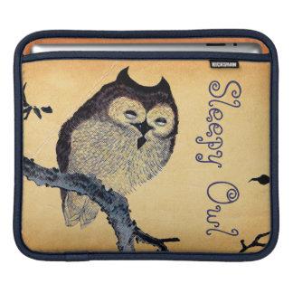 Vintage Sleepy Owl Sleeves For iPads