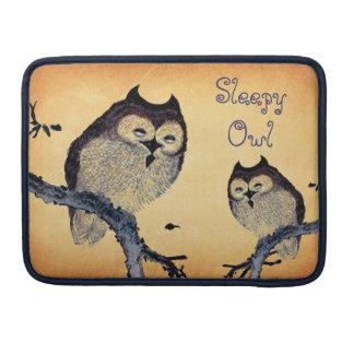 Vintage Sleepy Owl Sleeves For MacBook Pro