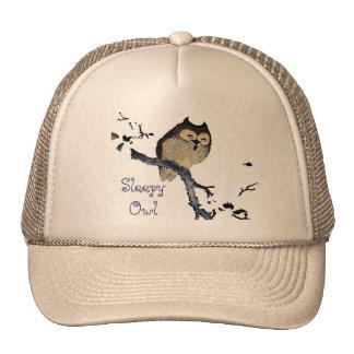 Vintage Sleepy Owl Trucker Hat