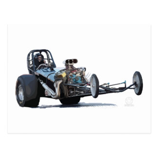 Vintage Slingshot Dragster Wheelie Postcard