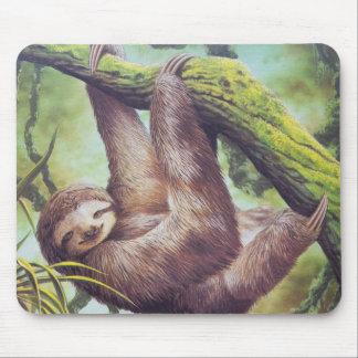 Vintage Sloth Illustration Mousepad