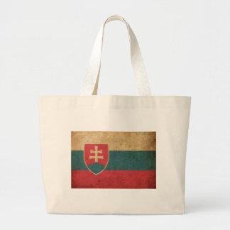 Vintage Slovakia Flag Jumbo Tote Bag