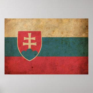 Vintage Slovakia Flag Poster
