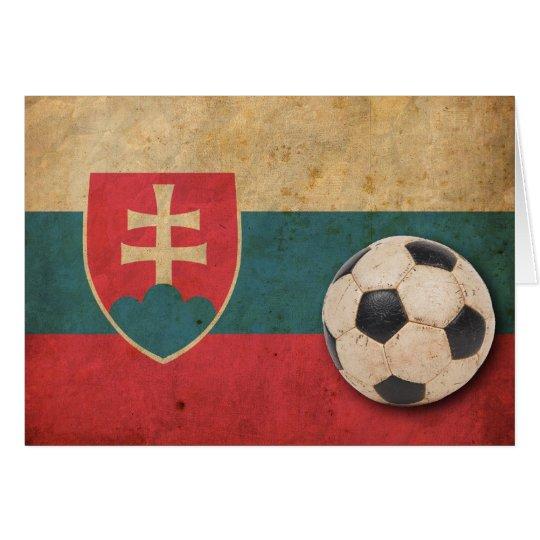 Vintage Slovakia Football Card
