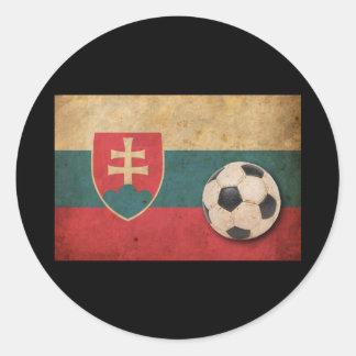 Vintage Slovakia Football Classic Round Sticker