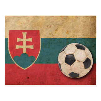 Vintage Slovakia Football Postcard