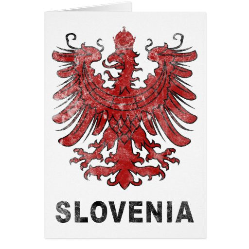 Vintage Slovenia Eagle Greeting Card