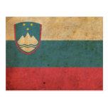 Vintage Slovenia Flag Post Card
