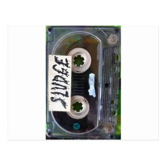 vintage sludge cassette by sludgeart postcard