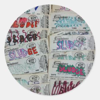 vintage sludge ticket stubby SLUDGEart Classic Round Sticker