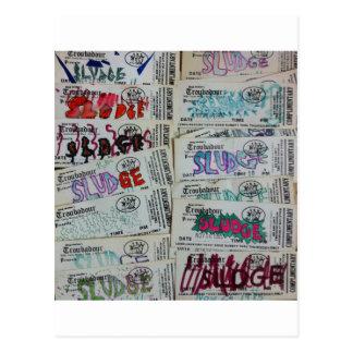 vintage sludge ticket stubby SLUDGEart Postcard