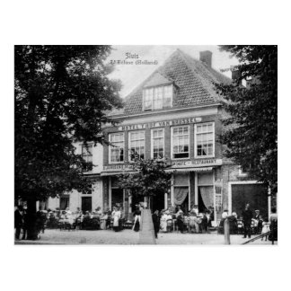 Vintage Sluis Holland Hotel Restaurant Postcard