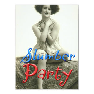 Vintage Slumber Party 6.5x8.75 Paper Invitation Card