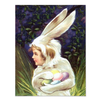 Vintage Sm Cute Easter Egg Hunt Party Invitations