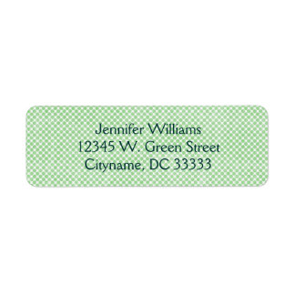 Vintage Small Green and White Dots Personalized Label