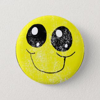 Vintage Smiley Face Pinback Button