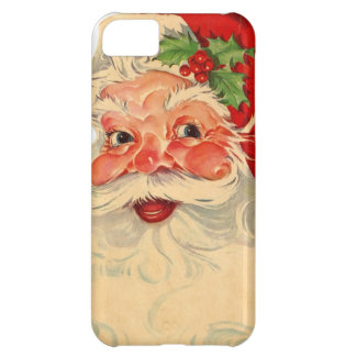 Vintage Smiling Santa Christmas Holiday Gift Item Case For iPhone 5C