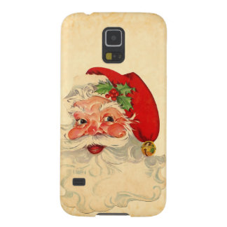 Vintage Smiling Santa Christmas Holiday Gift Item Cases For Galaxy S5