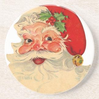Vintage Smiling Santa Christmas Holiday Gift Item Coaster