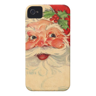 Vintage Smiling Santa Christmas Holiday Gift Item iPhone 4 Case-Mate Cases