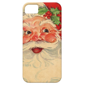 Vintage Smiling Santa Christmas Holiday Gift Item iPhone 5 Covers