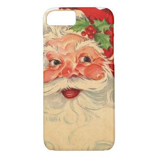 Vintage Smiling Santa Christmas Holiday Gift Item iPhone 7 Case