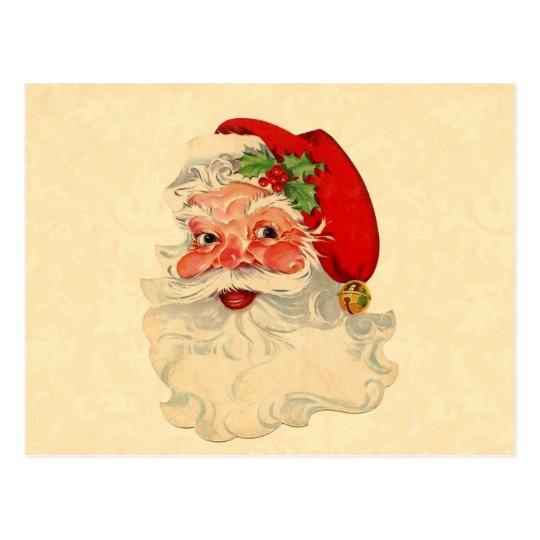 Vintage Smiling Santa Christmas Holiday Gift Item Postcard