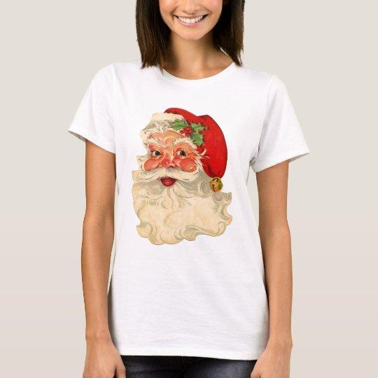 Vintage Smiling Santa Christmas Holiday Gift Item T-Shirt