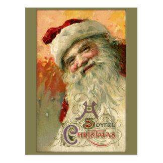 Vintage Smiling Santa Christmas Postcard