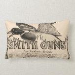 Vintage Smith Firearm Gun Duck Home Decor Pillow