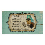 Vintage Smokey Rose Owl Business Card/Tags Business Card