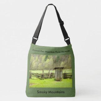 Vintage Smoky Mountains Outhouse Photography Crossbody Bag