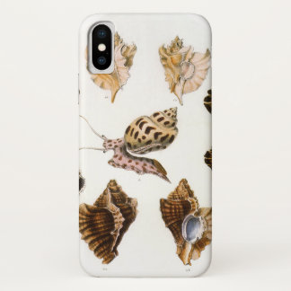 Vintage Snails and Mollusks, Marine Life Organisms iPhone X Case